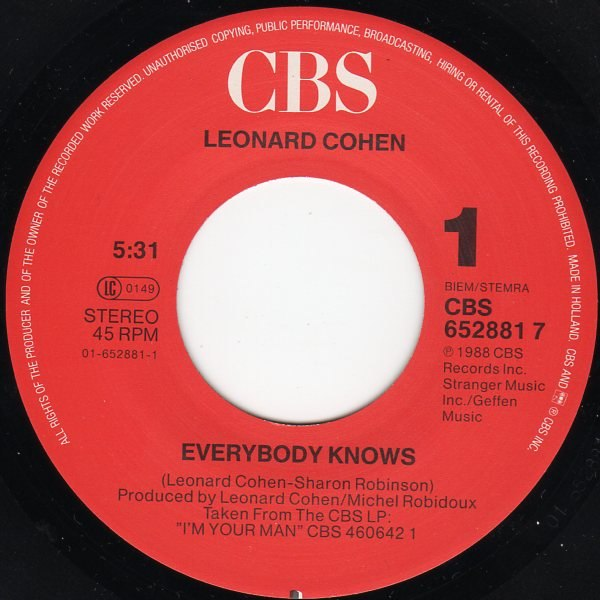 Everybody Knows Leonard Cohen