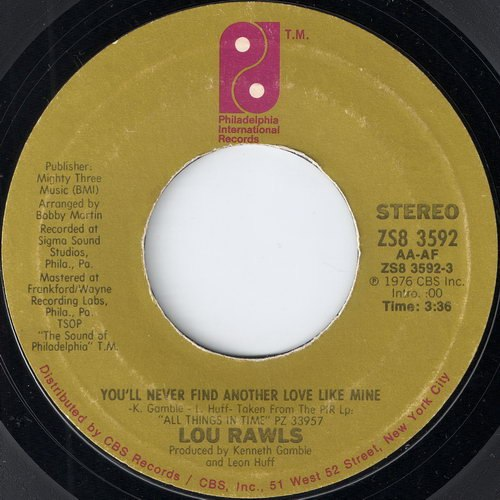 You'll Never Find Another Love Like Mine Lou Rawls