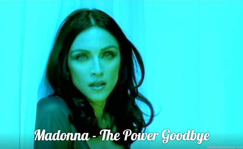 The power of goodbye Madonna